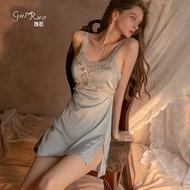 Satin pajama silk sleepwear dress sleepwear for women