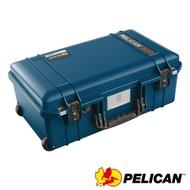 美國 PELICAN 1535TRVL Air 輪座拉桿超輕氣密箱-(藍)