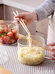 泡麵碗大號玻璃沙拉碗 家用餐具耐熱大碗透明吃飯湯碗麵碗 科炫數位