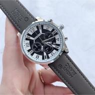Montblanc 萬寶龍 六針多功能石英腕錶 三眼計時跑秒功能手錶