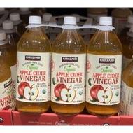 好市多代購-科克蘭有機蘋果醋946毫升*3瓶-2024