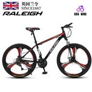💛in Stock💛 Raleigh Mountain Variable Speed Male and Female Adult Cross Country Race Car Student Double Shock Absorption Light Bike Outdoor Bicycle_CN