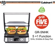 Cuisinart Griddler Grill Five And Deep Pan Panini Press With Digital Display (1750 W) GR-5NHK