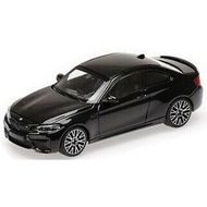 【名車館】MINICHAMPS 155028001 BMW M2 Competition 2019 Black 1/18