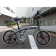 ( Free Installation + Warranty ) Hito X4 Foldable 6 speed Premium Bicycle - Magiclamp123