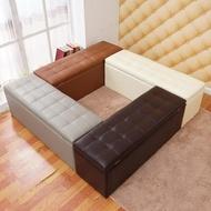 椅子/凳子  實木服裝店長方形沙發換鞋凳鞋櫃床尾儲物凳收納更衣室試衣間凳子jy igo聖誕免運