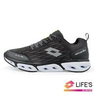 【領券最高↘再折$240】LOTTO樂得-義大利第一品牌 男款AIR FLOW 4.0 風動跑鞋 [1900] 黑【巷子屋】