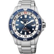 BNIB Citizen BJ7111-86L Promaster Diver's Eco Drive Super Titanio GMT Blue Dial Stainless Steel Bracelet Men Watch