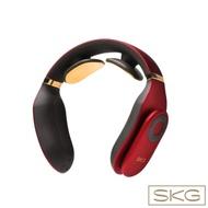 [快]SKG 智能時尚輕薄設計多段式頸椎熱敷按摩器 尊爵紅-4098