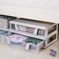 收納箱 床底收納箱盒透明扁平抽屜式滑輪整理儲物箱塑料特大號床下收納箱T