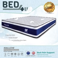 Bed4U - ECOlux (Mallow) Queen/King Mattress -Therapeutic Spring Mattress /11 Inch