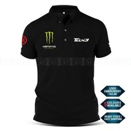 Polo T Shirt Yamaha Tech3 Monster Sulam MotoGP Motorcycle Motosikal Superbike Racing Team Casual Y125Z Y15 RXZ TZM SRL