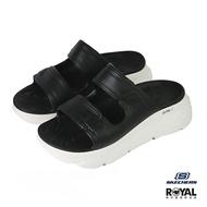 Skechers Mas Cushioning 黑色 橡膠 防水 增高6CM 涼拖鞋 女款 NO.J0480【新竹皇家 111125BKW】