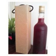 酒盒酒瓶提盒酒瓶盒酒提盒E-5026單入500ml瓦愣提盒瓦愣酒盒瓦愣紙盒酒袋酒提袋紅酒袋(11元)