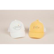 [Queenies Baby/Shop] 韓國 KOREA 二色 笑臉 Smile 洞洞帽 後方有魔鬼粘可調整鬆緊 現貨