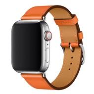 นาฬิกา Appleiwatchสายหนังapplewatch6/5/4/3/2/1/seHermes อย่างเป็นทางการพร้อมสายรัดข้อมือสายรัดข้อมือผู้ชายและผู้หญิงบุคลิกภาพความคิดสร้างสรรค์น้ำหนังเปลี่ยนสายรัด