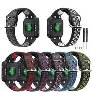 【xixistorea】適用Garmin Forerunner35雙色運動矽膠錶帶