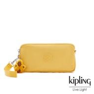 Kipling 鮮豔太陽黃手拿包-LOWIE