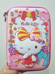 กล่องดินสอสมิกเกิ้ล EVA กระเป๋าดินสอ กล่องดินสอ smiggle hardtop pencil case 3d 3ดี ลาย Hello Kitty  สีชมพู