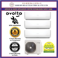 Avolta 5 Ticks System 3 Air Conditioner Air Con Aircon for 3 large bedrooms + NEW Installation