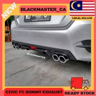 HONDA CIVIC FC REAR DIFFUSER 🔥ReadyStock🔥 WITH DAMMY EXHAUST