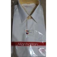 美好挺 Manhattan 14.5*32白色長袖襯衫