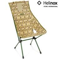 Helinox 輕量戶外高腳椅/日落椅/高背椅/DAC露營椅 Sunset Chair 三角圖騰-綠 Triangle Green