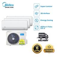 [Midea] AEPRO 4Ticks System2/System3 Aircon [MSEID-09+MSE4OD-21]