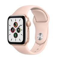 Apple Watch SE GPS版-金色鋁金屬錶殼配淺粉紅色運動錶帶_40mm(MYDN2TA/A)(美商蘋果)