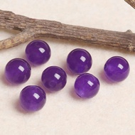 4A天然 紫 玉髓 散珠 DIY 半成品 飾品 圓珠 單珠 散珠 手作 手工 水晶 材料