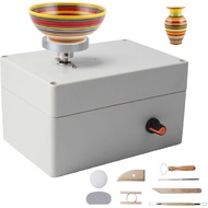 Pottery Wheel Machine, USB Pottery Making Kit with 6Pcs Ceramic Clay Tools, Electric Pottery Wheels DIY Kits