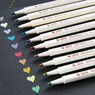 STA斯塔金屬感彩色油漆筆 粗頭 軟頭 彩色中性筆【BlueCat】【RC2392】