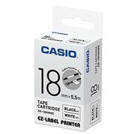 【CASIO】標籤機專用特殊色帶-18mm線材專用白底黑字(XR-18HMWE)