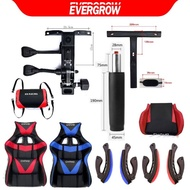 evergrow Office chair accessories  gaming chair spare parts office chair gas lift roller wheel base set  seater handles