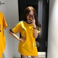Adidas Kk 3 Stripes T-shirt Adidas Men Cotton Tee Yellow Ge6233