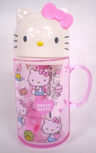 X射線【C106570】Hello Kitty 旅用造型牙刷杯組,除牙垢/旅用牙刷/牙刷杯/牙膏/口杯組/摺疊牙刷/隨身牙刷