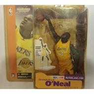 麥法蘭系列公仔 美國職業籃球NBA絕版洛杉磯湖人 SHAQUILLE O'NEAL 歐尼爾 歐肥
