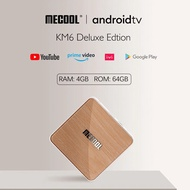 Mecool KM6 deluxe edition S905X4 TV Box Android 10 4GB 64GB Wifi 6 Google Certified AV1 BT5.0 1000M Set Top Box Mecool KM6