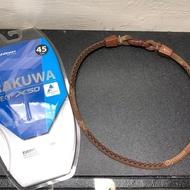 [二手] 日本 Phiten 銀谷 RAKUWA X50 液化鈦 項圈 咖啡色 45cm