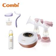【日本Combi】自然吸韻雙邊電動吸乳器 贈手動配件組、標準玻璃奶瓶240ml