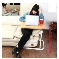 【帶輪升降邊桌-鋼管+纖維板-桌面40*60-可調高68-100cm-1套/組】老人病人家用護理桌 沙發休閒桌 移動升降電腦桌-56043