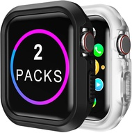 2pack)Case for Apple Watch 44mm Shock-proof and Shatter-resistant Protector Bumper watch Case for Apple Watch Series 5 Series 4
