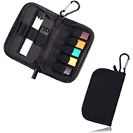 OrangeDance Carrying Case for JUUL,Holds Juul Device Pods and Charger,Wallet Size Easy to Carry with Metal Buckle(Device Not Included) (Black)