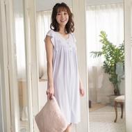 華歌爾睡衣-冰涼 M-L素面無袖家居連身裙裝(淺紫)冰涼感紗