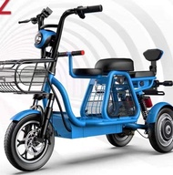 MZ 3 Seater Electric Bike Scooter with 3 wheels | Rechargeable Electric 3 Seater Electric Bike Scooter with 3 Wheels | Rice On Electric Scooter 3 Wheels