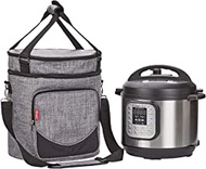 NICOGENA Household Instant Pot Carrying Case for 3 Quart Instapot Travel Tote Bag Storage Cover Carrier, Insta Pot and Pressure Cooker Accessories Instant Pot Accessory, Grey