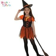 萬聖節兒童演出服裝Cosplay表演衣服女童魔法師魔術師女巫巫婆裙