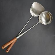 鍋鏟炒勺304不銹鋼家用花梨木柄炒菜炒鏟套裝同款