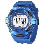 JAGA捷卡M979B-E粗礦豪邁多功能電子錶(藍色)