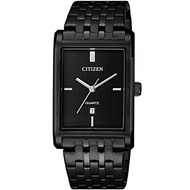 Citizen Mens Black Stainless Steel Watch Watch